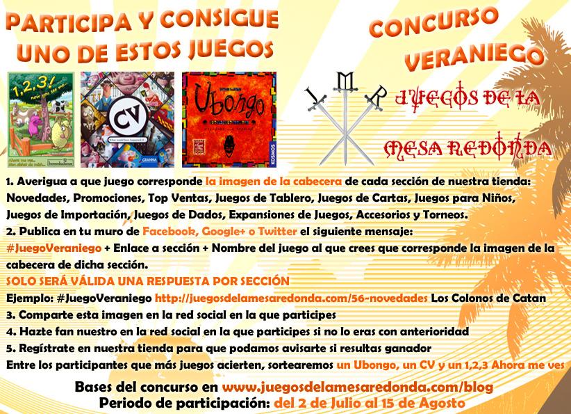 Concurso Veraniego. Juegos de la Mesa Redonda
